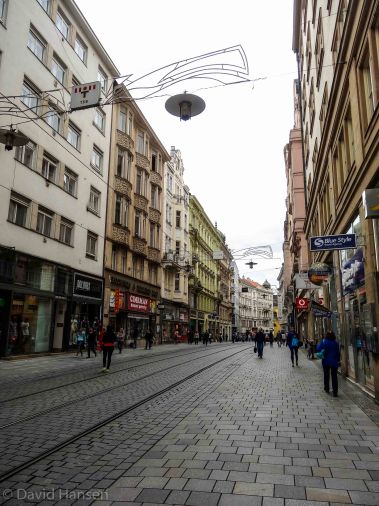 Brno shopping district