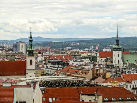 Brno skyline from the tower