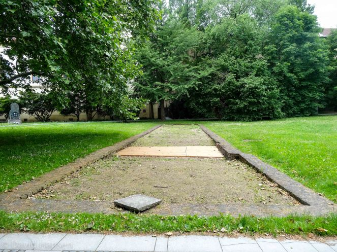 The foundation where Mendel's greenhouse stood